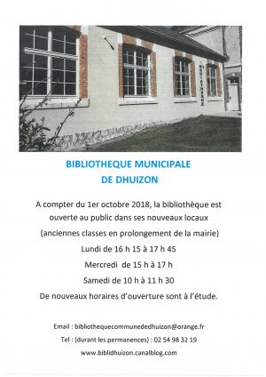 OUVERTURE BIBLIOTHEQUE